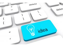3d Button With Keyboard With Word Idea And Bulb Stock Photo