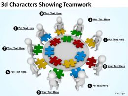 3d Characters Showing Teamwork Ppt Graphics Icons Powerpoint