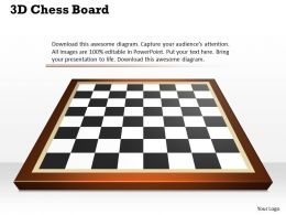 3D Chess Board Powerpoint Template Slide