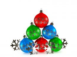 3D Christmas Balls Graphic Stock Photo