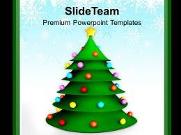 3d Christmas Tree Festival Celebration PowerPoint Templates PPT Backgrounds For Slides 0113