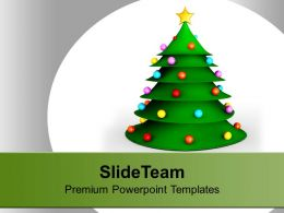3d Christmas Tree Festival Powerpoint Templates Ppt Themes And Graphics 0113