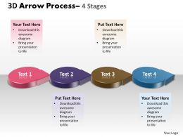 3D Circle Arrow 4 Stages 4