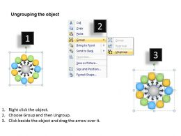 13018518 Style Linear 1-Many 11 Piece Powerpoint Template Diagram Graphic Slide