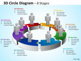 3D Circle Diagram 8 Stages 1