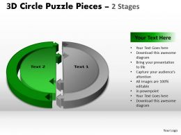 60028096 Style Puzzles Circular 2 Piece Powerpoint Presentation Diagram Infographic Slide