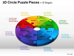 3D Circle Puzzle Diagram 8 Stages Slide Layout 4 ppt Templates 0412