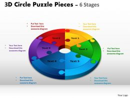 3D Circle Puzzle Diagram Slide Layout 2