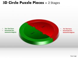 3D Circle Puzzle Diagram Slide Layout 5