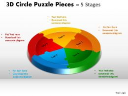 3D Circle Puzzle templates Diagram 5 Stages Slide Layout 5 And ppt Templates 2