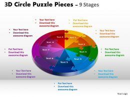 3D Circle Slide templates Layout 1