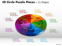 3D Circle templates Slide Layout 1