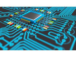 3d Circuit In Blue Color Design Stock Photo
