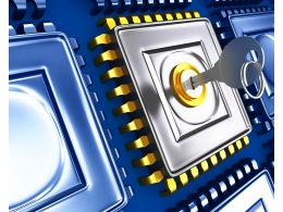 3d Circuits With Locked Integrated Circuit Stock Photo
