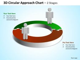 3d circular approach chart 2 stages powerpoint diagrams presentation slides graphics 0912