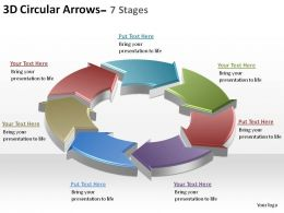 3d circular arrows process smartart 7 stages ppt slides diagrams templates powerpoint info graphics