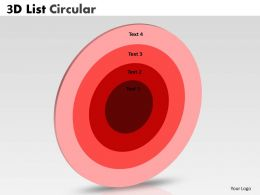 3D Circular Business Diagram