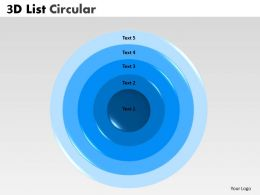 3D Circular Business Process With 5 Stages