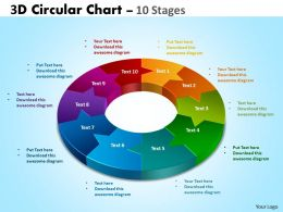 3D Circular Chart 10 Stages 4