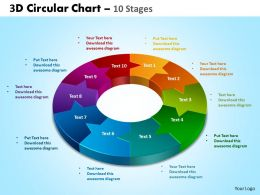 3d circular chart 10 stages powerpoint slides and ppt templates 0412