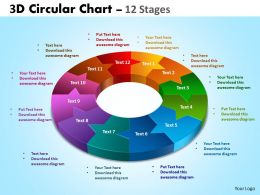3D Circular Chart 12 Stages 2