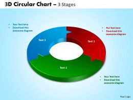 3d circular chart 3 stages powerpoint slides and ppt templates 0412