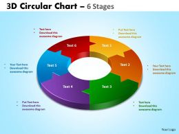 3D Circular Chart 6 Stages 3