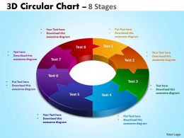 3D Circular Chart 8 Stages 5