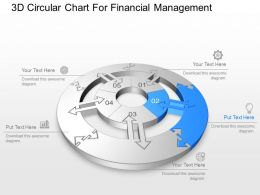 3d Circular Chart For Financial Management Powerpoint Template Slide