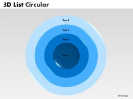 3D Circular Concentric Diagram