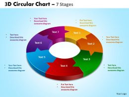 3D Circular diagram Chart 7 Stages 2