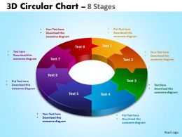 3D Circular diagram Chart 8 Stages 3