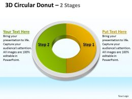 3D Circular Donut 2 Stages 2