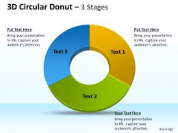 3D Circular Donut 3 Stages 3