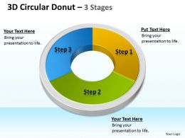 3D Circular Donut 3 Stages 4