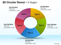 3D Circular Donut 5 Stages 1