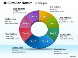3D Circular Donut 8 Stages diagrams 1