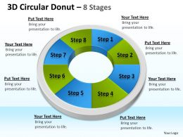 3D Circular Donut 8 Stages templates 2