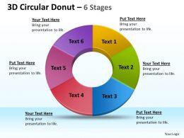 3D Circular Donut circular 6 Stages 1