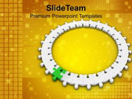 3d Circular Jigsaw Puzzle Innovation Concept Powerpoint Templates Ppt Themes And Graphics 0213