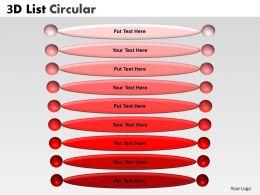 3D Circular List 1