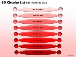 3D Circular List For Planning Oval Powerpoint Slides And Ppt Templates DB
