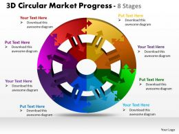 3d circular market progress 8 stages powerpoint templates graphics slides 0712