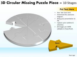 3D Circular Missing Puzzle Piece 10 Stages 2
