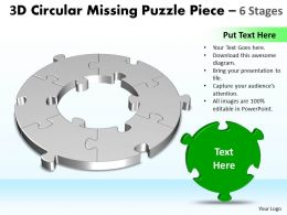 3D Circular Missing Puzzle Piece 6 Stages 3