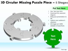 3D Circular Missing Puzzle Piece 6 Stages