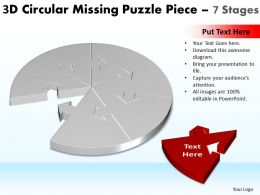 3D Circular Missing Puzzle Piece 7 Stages