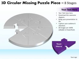 3D Circular Missing Puzzle Piece 8 Stages 2
