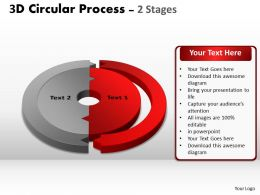 33481110 Style Puzzles Circular 2 Piece Powerpoint Presentation Diagram Infographic Slide