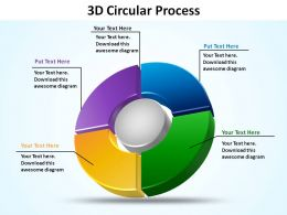 3d circular process 4 quadrants slides presentation templates powerpoint info graphics